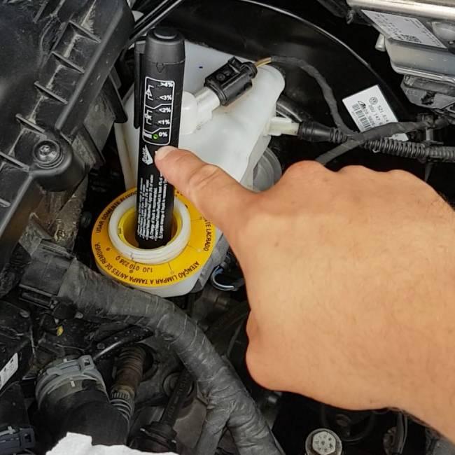 Diagnostico de corrosividade do fluido de freio